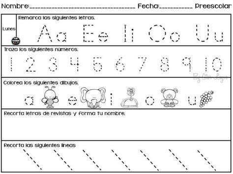actividades educativas para imprimir semanario de actividades para preescolar actividades de