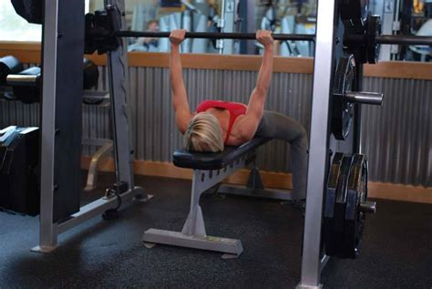 bench press negatives smith machine bench press exercise guide and video