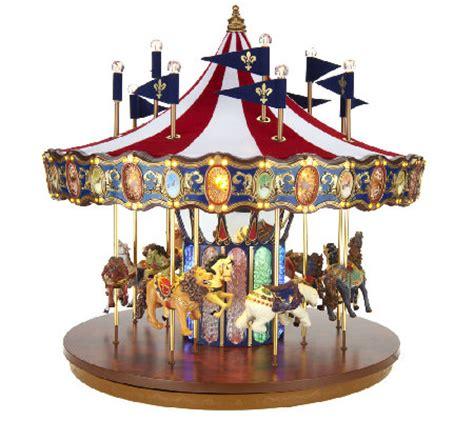 best christmascarpusel mr flag carousel with lights and qvc