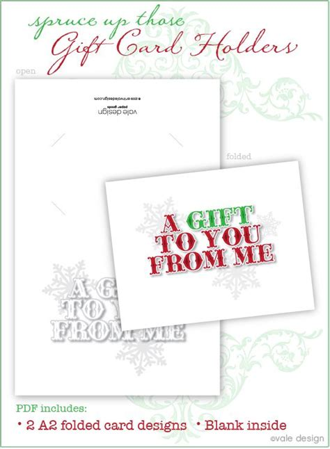 gift card holder printable christmas pinterest