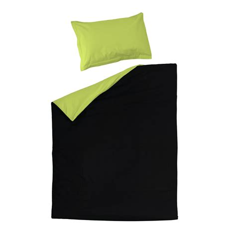 Green And Black Duvet Cover by Black Green 100 Cotton Reversible Bed Linen Set