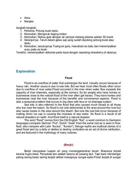 langkah langkah membuat soto ayam dalam bahasa inggris beberapa macam teks dalam bahasa inggris beserta terjemahannya