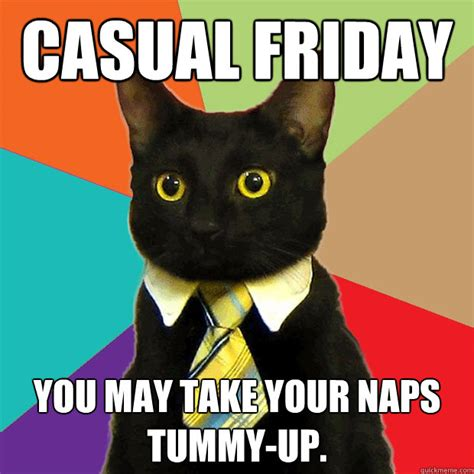 Friday Cat Meme - casual friday cat meme cat planet cat planet