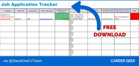 application tracking template application recruitment tracking spreadsheet free