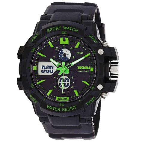Jam Tangan skmei jam tangan sport pria ad0990 black green jakartanotebook