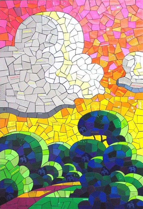 How To Make Paper Mosaic - 21 best mosaics projects for images on