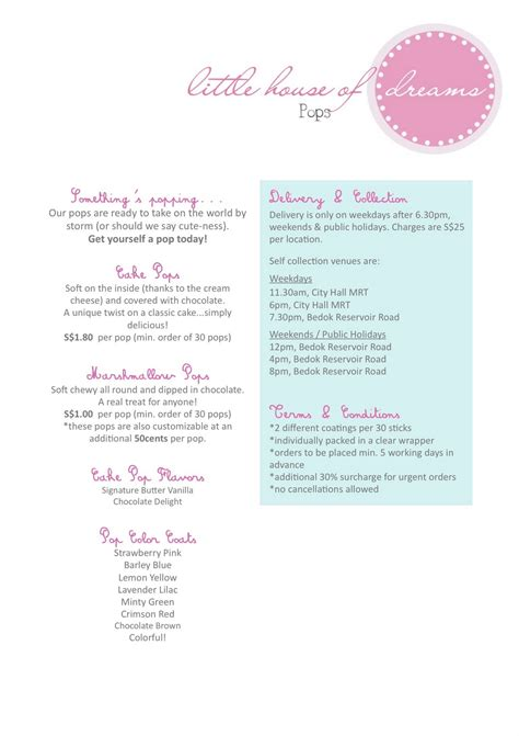 little house of dreams price list
