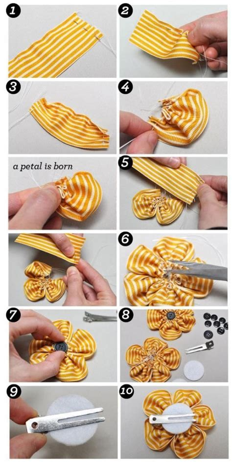 diy flower food diy flower craft how to make a ribbon flower with beads