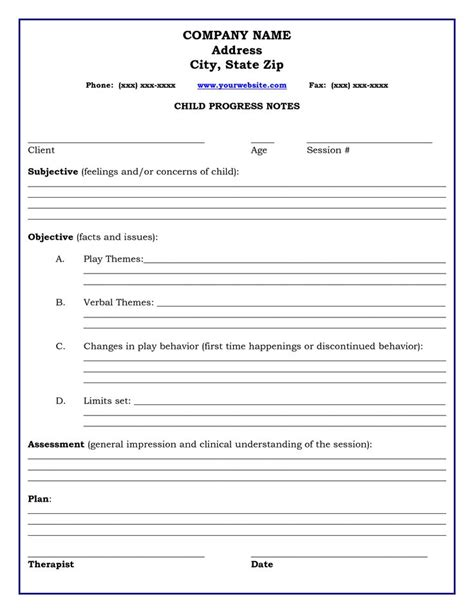 counselling session notes template therapy progress note template professional resources