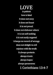 LOVE IS PATIENT LOVE IS KIND 1 Corinthians 13 quote canvas