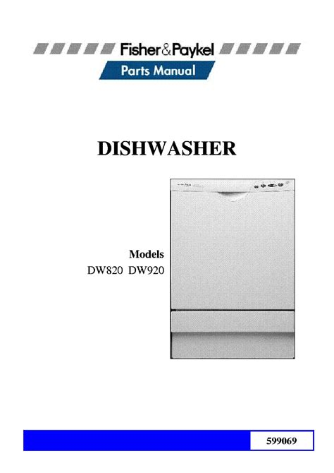 fisher paykel dishwasher parts diagram fisher paykel dw820 dw920 parts list service manual with regard to fisher paykel