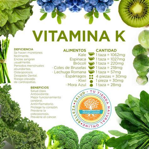 alimenti con vitamina k vitamina k infografia salud