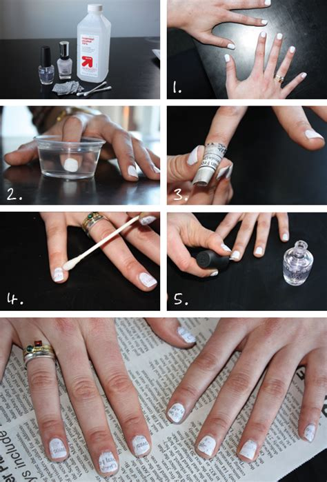 Newspaper Nail Step By Step the fashionista laboratory