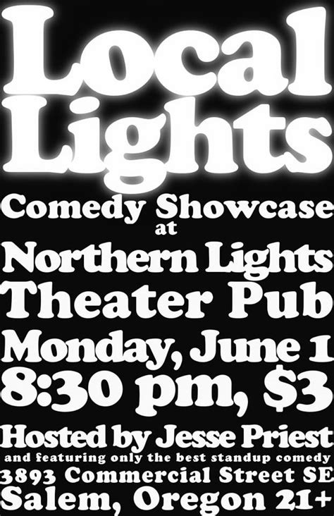 northern lights theatre pub local lights comedy showcase northern lights theatre pub