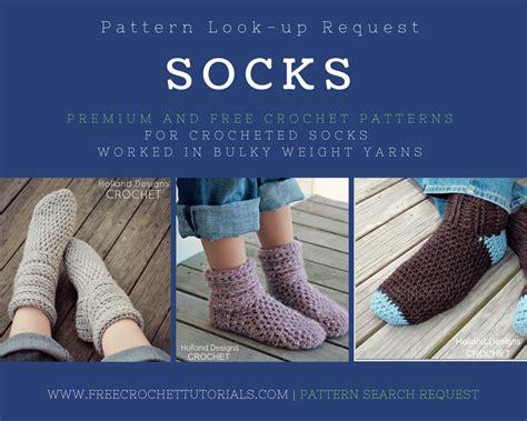sock pattern bulky yarn crochet socks patterns pattern lookup free crochet