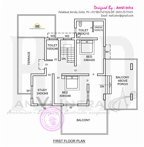 house and floor plans elevation and floor plan of contemporary home kerala