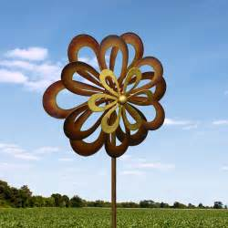 Wind Art by Large 2ft Kinetic Wind Sculpture Art Dual Spinner Metal