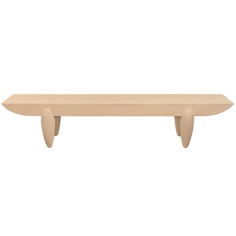 christian liaigre bench quot pirogue bench quot in hand finished white oak by christian