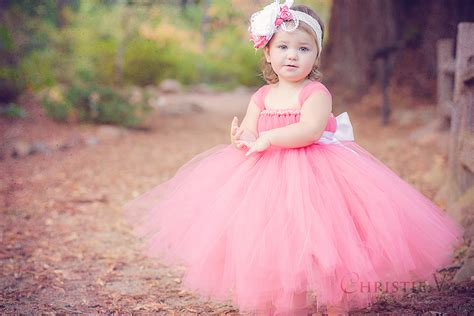 tutu dress coral flower tutu dress dreamers