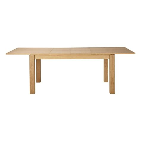 Extending Wood Dining Table Wooden Extending Dining Table W 160cm Danube Maisons Du Monde