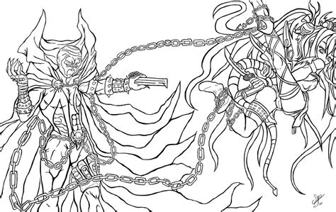 pencil of a spawn coloring pages