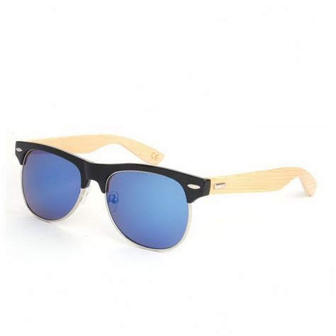 Handcrafted Eyewear - handcrafted wooden sunglasses semi rimless black frame