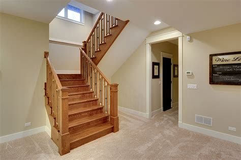 basement staircase stair basement staircase new custom homes globex