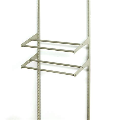 Closetmaid Nickel Wire Shelving Closetmaid Shelftrack 24 42 In W Nickel Adjustable Shoe