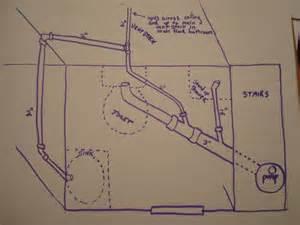 basement bathroom plumbing layout plumbing and venting basement bathroom