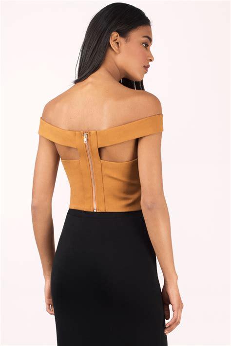 On Shoulder Shoulder Top trendy black crop top black top shoulder top 50 00