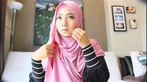 Tutorial Pashmina Jersey | hijab tutorial cotton jersey shawl youtube
