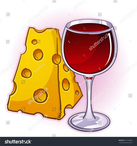 cartoon wine and cheese wine cheese cartoon illustration stock vector 119129086