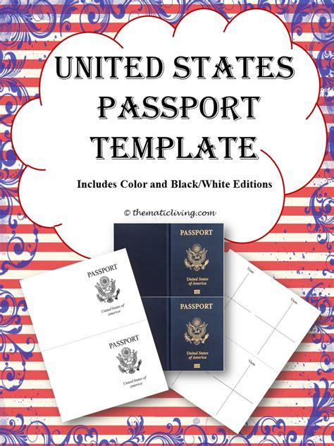 us passport template scavenger hunt