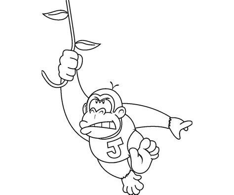 free coloring pages of baby donkey kong