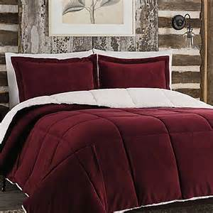 Bed Bath And Beyond King Size Bedding Sets So Soft Plush Reversible Comforter Set In Burgundy Bed