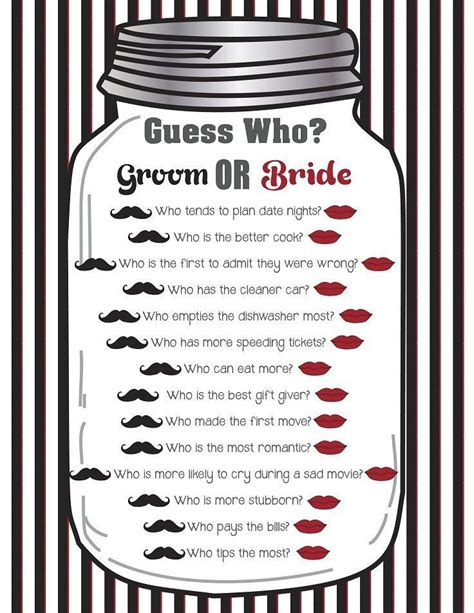Guess Who Bridal Shower bridal shower quot guess who quot couples shower