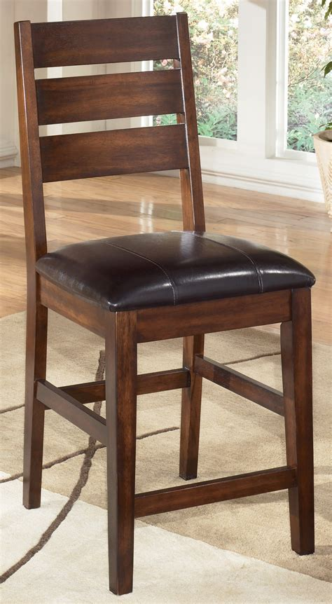 larchmont 24 quot leather back bar stool the brick larchmont 24 quot counter stool set of 2 from ashley d442 124