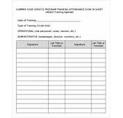 Sample Training Sign In Sheet  13 Documents PDF