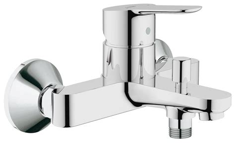 grohe bathtub grohe bauedge single lever bath shower mixer tap chrome
