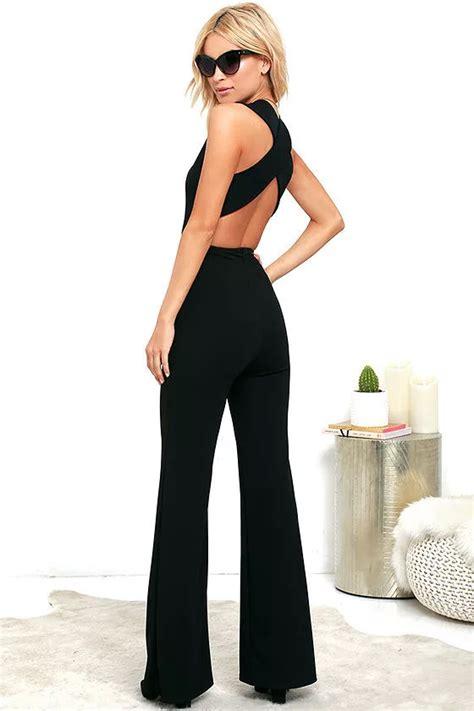 Jumpsuit Jamsuit Jumsuit Hitam Black 1 chic black jumpsuit backless jumpsuit sleeveless