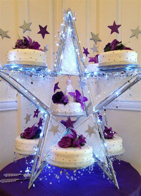 star themed quinceanera cakes purple star shape quinceanera cake