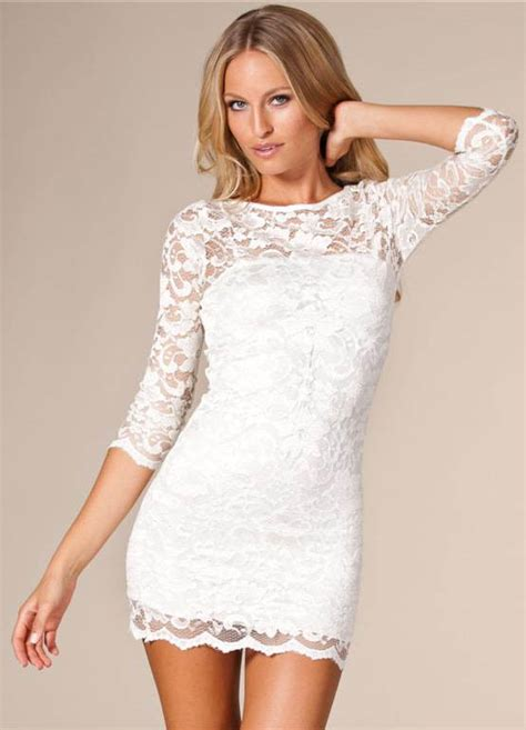 White Lace Dress lace bodycon dress dressed up