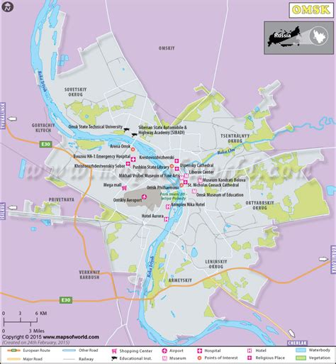 omsk map image omsk russia map