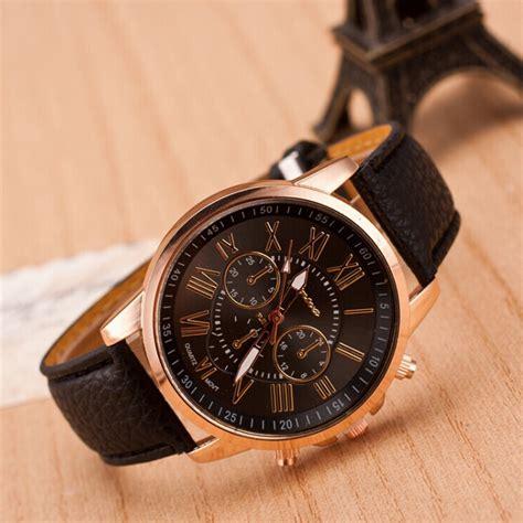 Black Watch, Leather Watch, Bracelet Watch, Vintage Watch