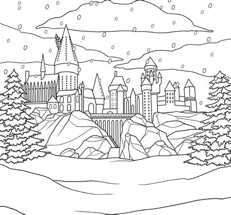 harry potter coloring book release date harry potter winter at hogwarts a magical colouring set