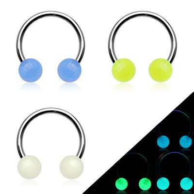 glow in the dark tattoo nz circular barbell glamore piercing