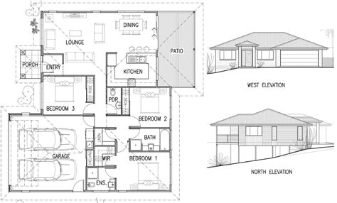 Floor Plans And Elevations Of Houses | house plan elevation architecture plans 4976