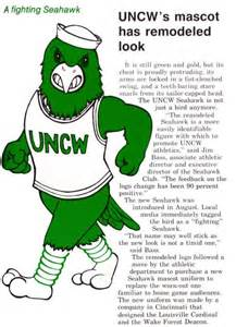 uncw colors it s been a blast changing looks for the seahawk uncw