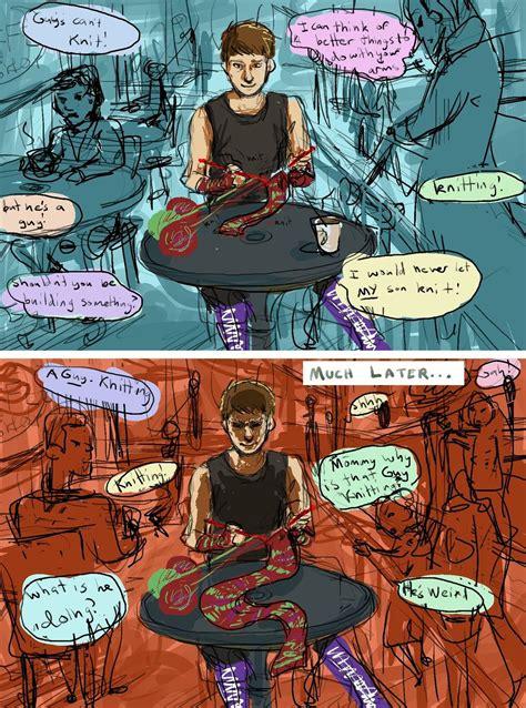and villain fan the origin of the knitter s viral