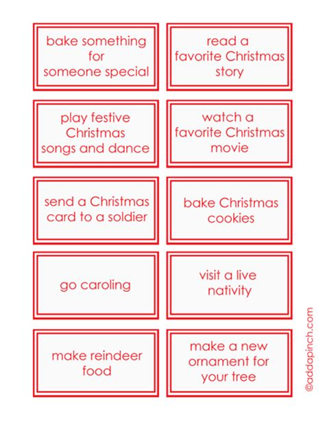 printable advent calendar for toddlers 5 best images of printable advent calendar activities